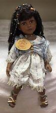 "RARE Adele's Puppenhaus Doll Beautiful Rufina Indian Hawaiian Girl Porcelain 23"""