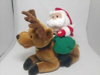 2001 Avon Santa and Dasher Talk Sing The True Meaning of Christmas Animated