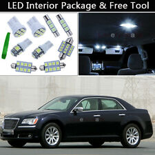 7PCS LED White Interior Lights Package kit Fit 2005-2012 Chrysler 300 300C J1