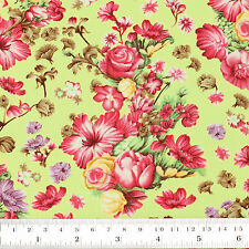 Cotton Fabric FQ Dot Graphic Print Digital Flower Bouquet Quilt FabricTime VK96