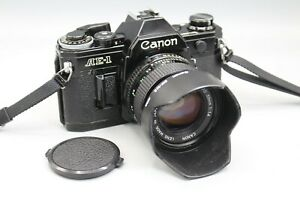CANON AE-1 CAMERA, LENS, CLAD, SEALS SR. 2914834 - NO SQUEAL, TESTED