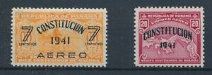 [35806] Panama 1941 Two good airmail stamps Very Fine MH
