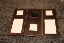 M&S - BOND LEATHER MULTI PHOTO FRAME. BROWN. GOOD CONDITION