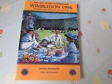 1996 WIMBLEDON Tennis Championships FINAL Programme Richard Krajicek & GRAF