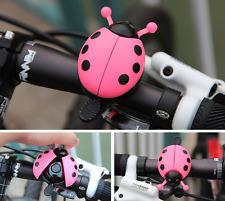 Bicycle Bell Ladybug Beetle Boll Ladybird Alarm Bike Metal Girls Kids Pink
