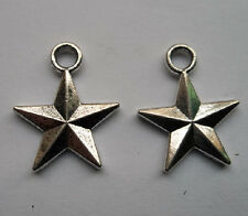 30 pcs Tibetan silver stars charms pendant 14x16 mm
