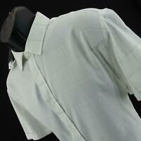 NWT Mens Vince Camuto White Plaids Short Sleeve Casual Golf Polo Shirt Size XL