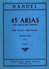 "HANDEL ""45 ARIAS (FROM OPERAS AND ORATORIOS)"" SONGBOOK 1959 international music"