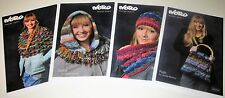 4 NORO Knitting Patterns POSH BAG Baby Hat & Cowl SPORTY HOODED LOOP Poncho LOT