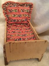 Primitive Doll Bed With Bedding All Original
