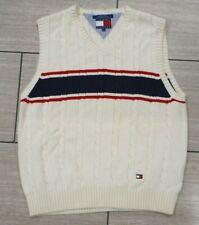 Vintage Tommy Hilfiger Cable Knit, V Neck,Sweater Vest Mens Sz. Large,Embroidery