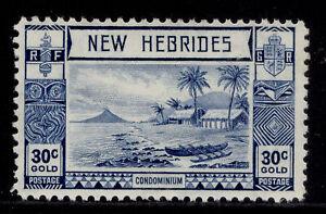 NEW HEBRIDES GVI SG57, 30c blue, M MINT.