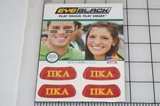 PI KAPPA ALPHA Eye Black Under Eye Stickers set of 2 Pair 4 Strips NEW