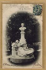 Cpa Paris - statue Guy de Maupassant wn0952