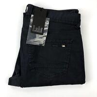 Pal Zileri Lab Men's Navy Blue Slim Fit Flat Front Chino Pants Size 30x33