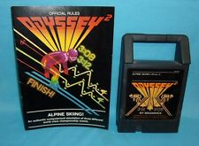 Original Magnavox Odyssey 2 Alpine Skiing! Skiing Game Cartridge & Instructions
