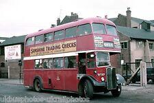 Doncaster Corporation 137 TDT337 AEC Regent Bus Photo Ref P321