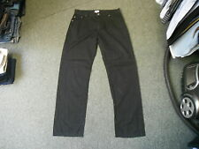 "Next Straight Jeans Waist 34"" Leg 33"" Black Faded Mens Cotton Jeans"
