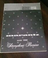 MARANTZ 2250 STEREOPHONIC RECEIVER  . Service Manual Original Paper