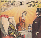 Dr Halls Star of Hope Angel Lung Cure 1800's Asthma NY Advertising Trade Card