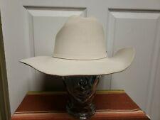 Bailey Western Hat Size 7 3/8 Beige 4X Angora Blend Buckle Hat Band