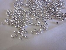 100 Silver Coloured 4x3mm Tiny Heart Spacer Beads #sp3271 Combine Postageage