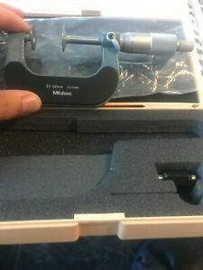 New mitutoyo 25-50 mm 123-102 disc micrometer with setting standard