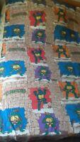 Housse + drap plat + 1 taie d'oreiller mirage studios tortues ninja vintage 1990