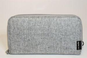 Pacsafe RFIDsafe NEW Gray Zip Around Travel Wallet