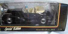 1955 Mercedes - Benz 300S Convertible Black Maisto Special Edition  1:18 scale