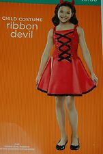 Ribbon Devil Halloween Costume Small 4-6
