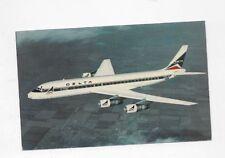Vintage Postcard DELTA AIRLINES Douglas DC-8 Fan Jet #25