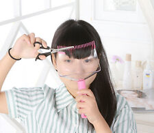 6.DIY Bangs Cut Supporter Home Hair Trimming Clipper Comb Styler Lady Makeup Kit