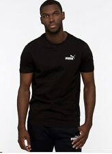 Navy, Black or White PUMA Logo Cotton Essentials Mens Tshirt, T Shirt