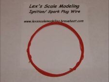 Ignition Spark Plug Wire in Red 1/24 & 1/25 Models 3FT