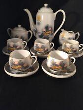 Kutani Coffee Set Hand Painted Cups Saucers Coffee Pot Milk Jug Sugar Bowl