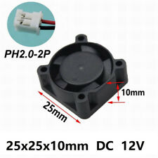 Wholesale 10pcs Mini DC 12V 25mm x 25mm x 10mm Brushless Cooling Cooler Fan New