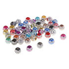 50 Stück Metallperlen, Zierperlen, Kügelchen, Zwischenperlen, Bastelperlen