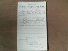 Rare 1906 Postcard Rebublic Oil Co Automobile Gas Gasoline Kansas City Missouri