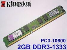 2GB DDR3-1333 PC3-10600 1333MHz KINGSTON KTH9600B/2G PC DESKTOP RAM SPEICHER