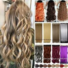 NATURAL Thick One Piece Clip In Hair Extensions Straight Wavy Real as Human Remy