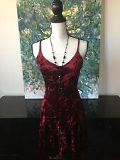 Betsey Johnson Burgandy Velvet Dress Sz S Burgundy Red