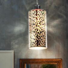 LED Pendel Decken Lampe Glas Kugel Wohn Ess Zimmer 3D Effekt Chrom Hänge Leuchte