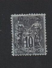 Préoblitéré N°4 10 c noir sur lilas type sage 4 lignes