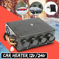 12/24V Universal Car Underdash Compact Heater + Speed Switch Defroster  W