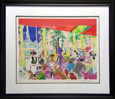 LeRoy Neiman Chez Francis serigraph with custom frame Cafe Europe HS! 1997