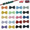 Men's Pre Tied Satin Wedding Party Fancy Spotted Necktie Bow Tie - 20 Colours!