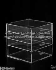 Acrylic Lucite Clear Cube Makeup Organizer The Kardashians Display 4 pull out dr
