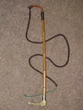 Victorian Hunting Whip W/Leather Thong Vale Of White Horse George Whyte Melville
