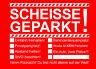 Scheisse Geparkt Notizblock A7 für Windschutzscheibe 50 Blatt Rot Falschparker